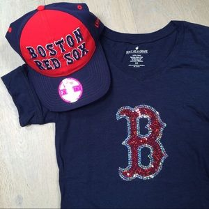 PINK Victoria's Secret Accessories - VS PINK • Red Sox baseball hat