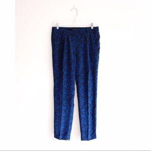 Theory Pants - Theory Blue Black Abstract Print Silk Pants size 6