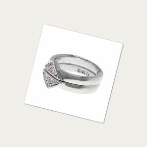 Rebecca Minkoff Jewelry - Rebecca Minkoff Stacking Triangle Ring Set Rhodium