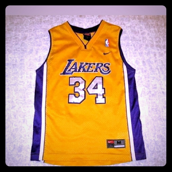0fca173aed8 Vintage Lakers Basketball Jersey Nike #34 Shaq. M_59474877291a3551140dcf11