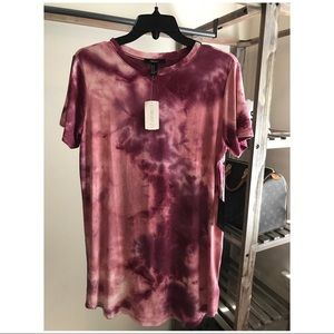 NWT :: Forever 21 :: Tie-Dye T-Shirt Dress :: Pink