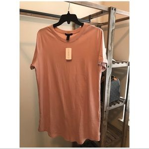 NWT :: Forever 21 :: T-Shirt Dress :: Blush