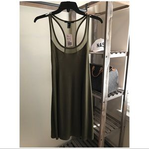 NWT :: Forever 21 :: Racerback  Dress :: Olive