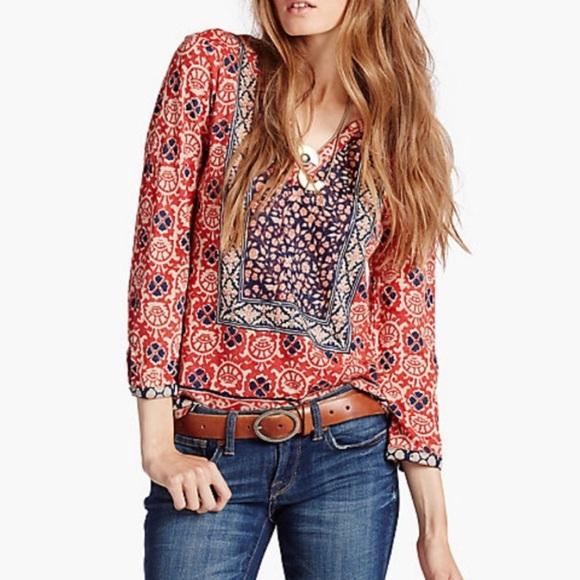 2131cd21356e Lucky Brand Tops - LUCKY BRAND Block Bohemian Floral Top