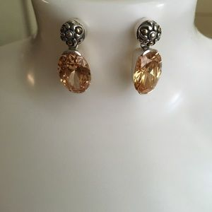 Brighton Jewelry - REDUCED Brighton 925 Silver Citrine Earrings