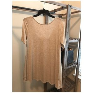 Francesca's :: Scoop Back Tunic/Dress :: Oatmeal