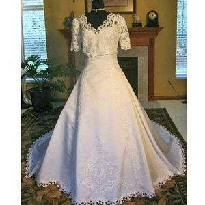 Dresses & Skirts - Wedding Dress White Modest Lovely Train