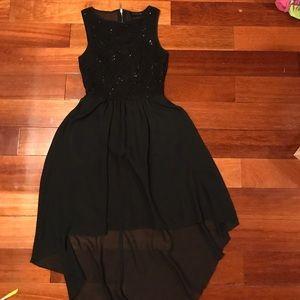 Dresses & Skirts - Black Sparkly High-Low Dress