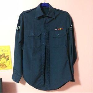Supreme Tops - Army Button Down
