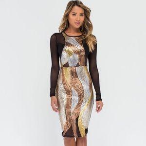 Dresses & Skirts - Brand New sequin mesh dress sz medium