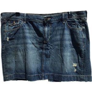 🔥$15 SALE🔥Old Navy Distressed Denim Mini Skirt