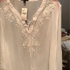 Tops - Very sheer, stunning white tunic