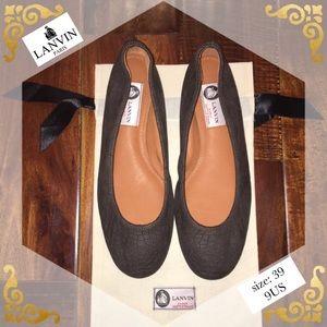 Lanvin Shoes - NEW Lanvin Croc-Embossed Ballerina Flat