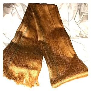 Accessories - *Stunning tan scarf with golden accents!*