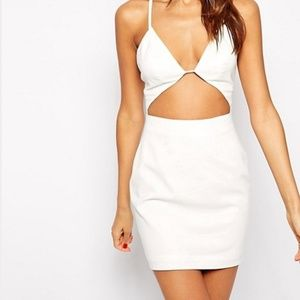 Dresses & Skirts - AqAQ informa white cut out mini dress xs