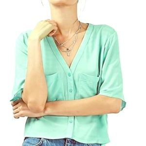 Topshop Cropped Blouse