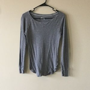 aerie Tops - Aerie gray thermal longlseeve