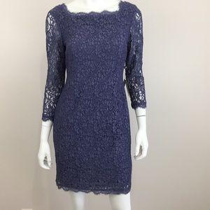 Adrianna Papell Dresses & Skirts - Adrianna Papell 8 Lace Overlay Sheath Dress NWT