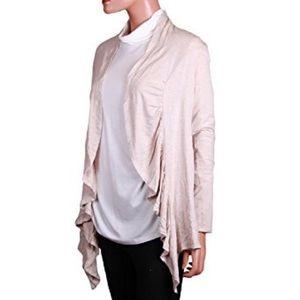 Grace Elements Sweaters - NWT Grace Elements Cream Ruffled Cardigan