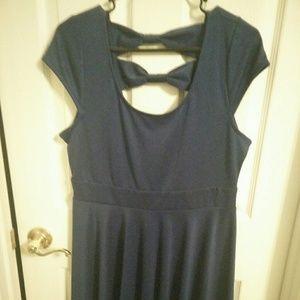 Monteau brand blue dress, NWT, size Large