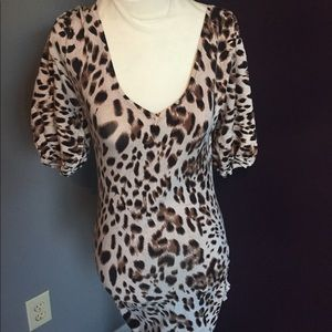 {GUESS} leopard v-neck tunic or minidress