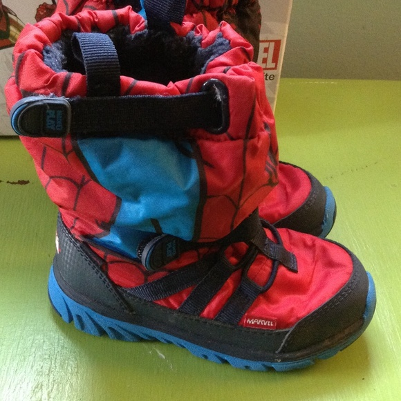 75% off Stride Rite Other - SPIDER-MAN SNOW BOOTS SNEAKERS