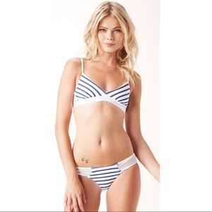 Blue Life Other - Blue Life Striped Mesh Bikini