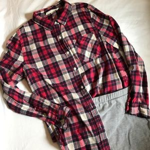 Vanilla Star Tops - Soft plaid button up shirt. Only worn once!!