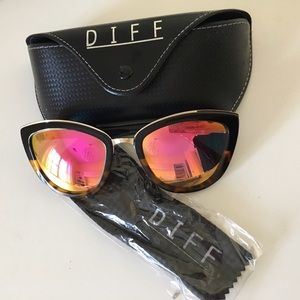 Diff Eyewear Accessories - Rose frame DIFF sunglasses