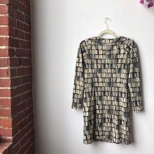 Analili Dresses & Skirts - Analili Vintage Abstract Cream & Black 60's Style