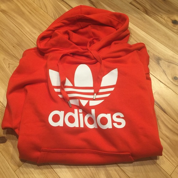 f7bd426b169d adidas Tops - Adidas Women s Originals Trefoil Hoodie - Red - Lg