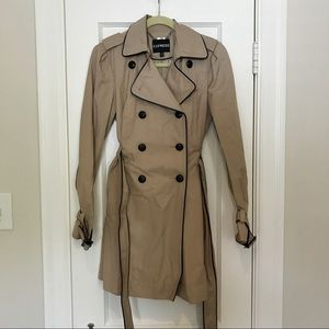 Khaki and Black Trench Coat