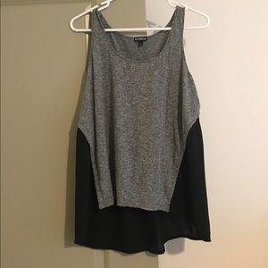 Express Tops - Gray and Blank Tank Top