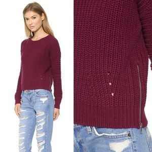 360 Sweater Sweaters - 🆕360 SWEATER Side-Zip Cable-Knit Sweater Medium