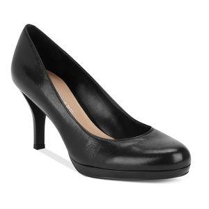 👠👠👠👠👠Franco Sarto black leather heels