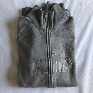Puma gray sweatshirt.