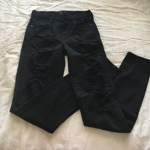 Agolde Denim - Black ripped jeans