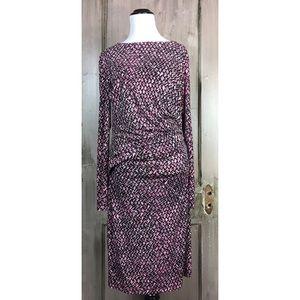 Karen Kane Long Sleeve Pink & Black Dress