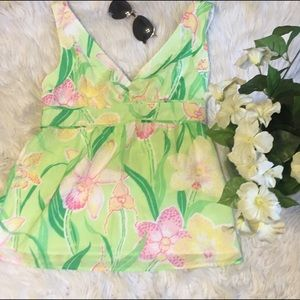 Lilly Pulitzer Tops - Lilly Pulitzer silk floral top. New condition