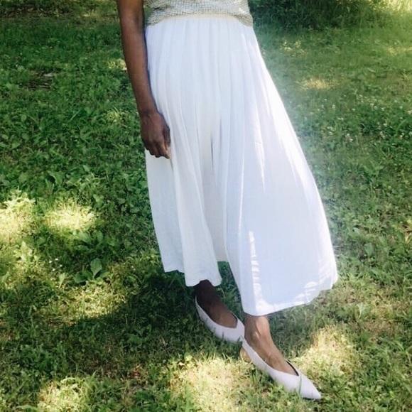 Marisa Christina Classic Dresses & Skirts - White pleated maxi dress