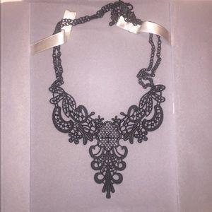 Jewelry - Gorgeous black vamp gothic cameo necklace
