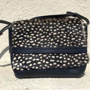 "Clare Vivier Handbags - Clare V ""Lou"" navy pony hair cross body bag"