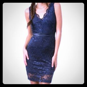 Teeze Me Dresses & Skirts - Macy's Navy Blue Lace Dress