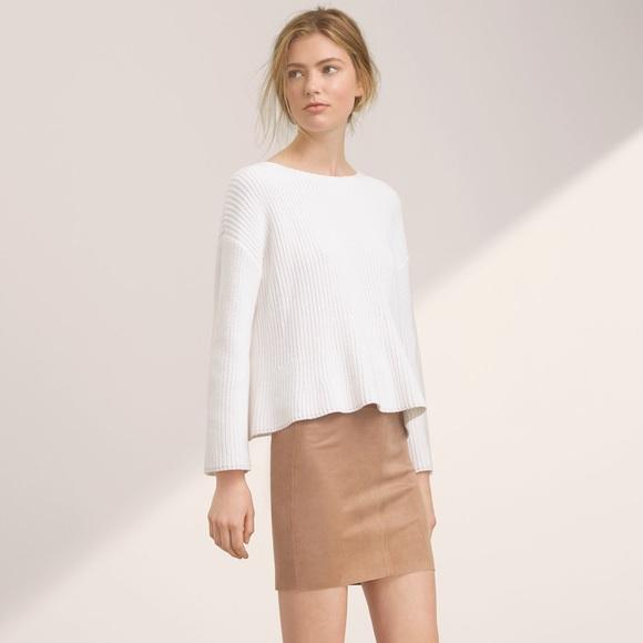 51fd1171c7 Aritzia Skirts   Wilfred Free Vegan Suede Camel Mini Skirt   Poshmark