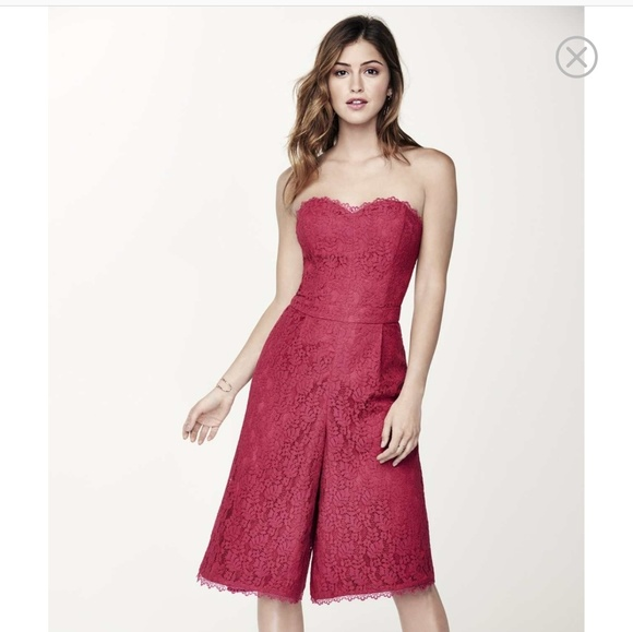 1ab55629075 Adeleyn Rae Strapless Lace Culotte Jumpsuit. NWT. Adelyn Rae