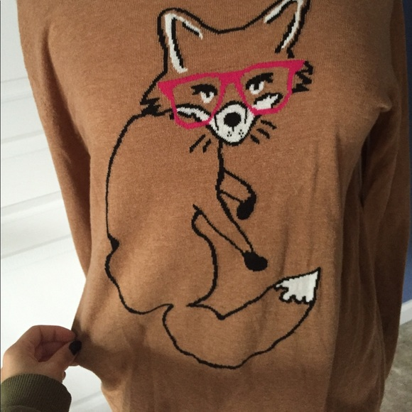Old Navy Sweaters - Brown Hipster fox oversize sweater