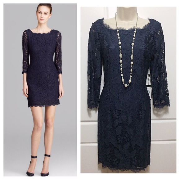 adrianna papell dresses navy blue lace sheath dress