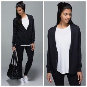 lululemon athletica Sweaters - ➡Lululemon Cardi In The Front Heathered Black⬅