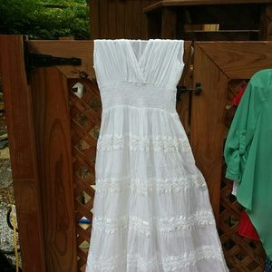 Advance Apparels Dresses & Skirts - Long white summer dress