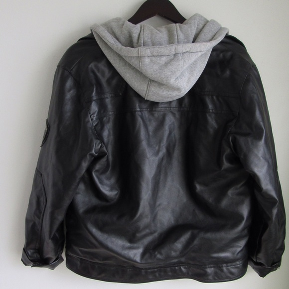 Black leather jacket with grey hoodie products are most popular in North America, Central America, and South America. You can ensure product safety by selecting from certified suppliers, including 15 with ISO, 1 with Other certification.